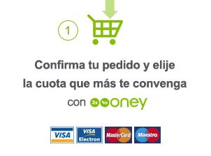 Un : Confirma tu pedido y elije la cuota que más te convenga con Facily Pay.